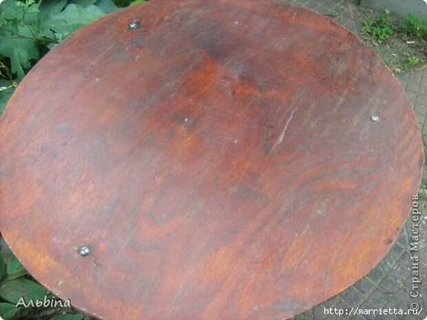 Декорирование круглого столика виниловыми салфетками (1) (520x390, 108Kb)