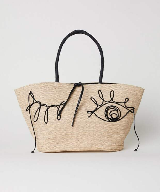 Пляжная сумка H&M с глазами
