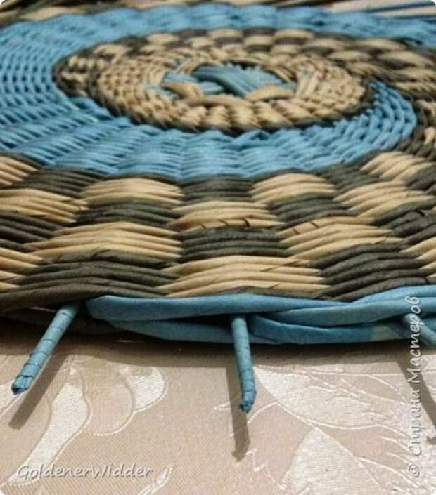 Мастер-класс Плетение Панно 40 см Спиральное плетение Бумага газетная Трубочки бумажные фото 26