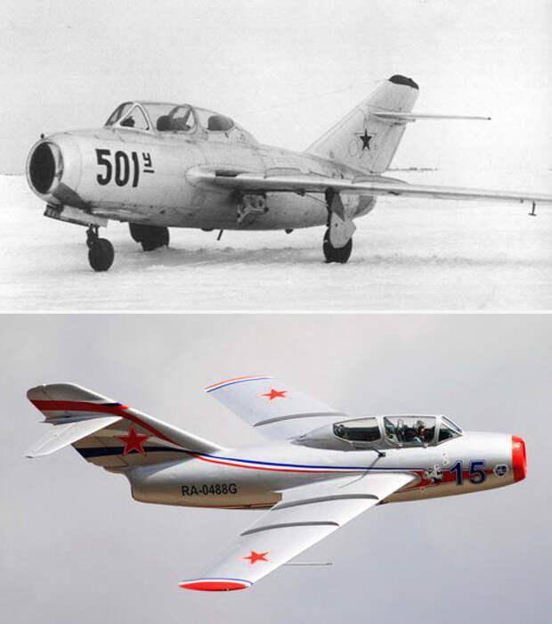 Две фотографии МиГ-15УТИ
