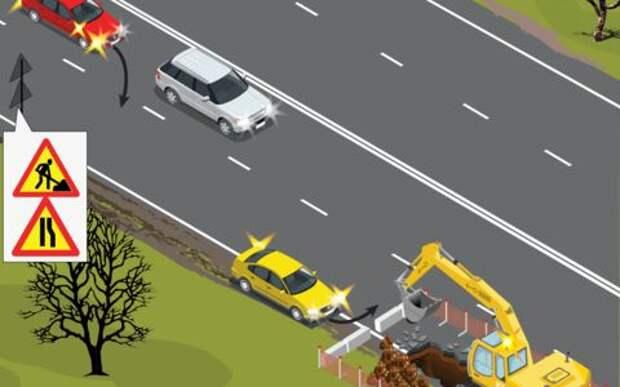 Ремонт на дороге: как избежать столкновения с нервным водителем