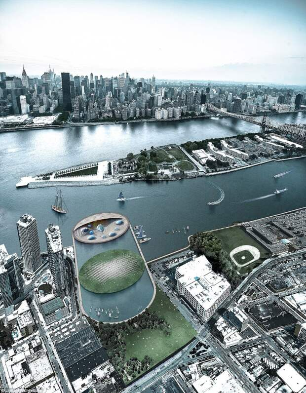Футуристический аквариум в Нью-Йорке