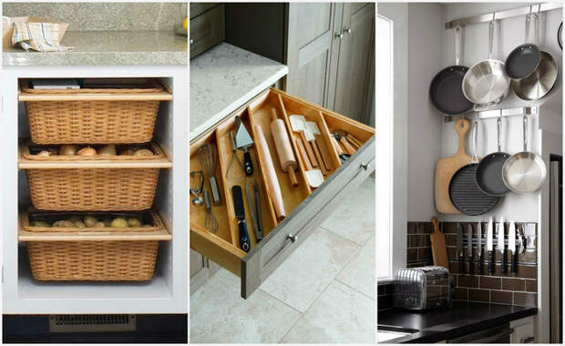 Хранение на кухне: 20 классных идей, которые пригодятся каждому.
