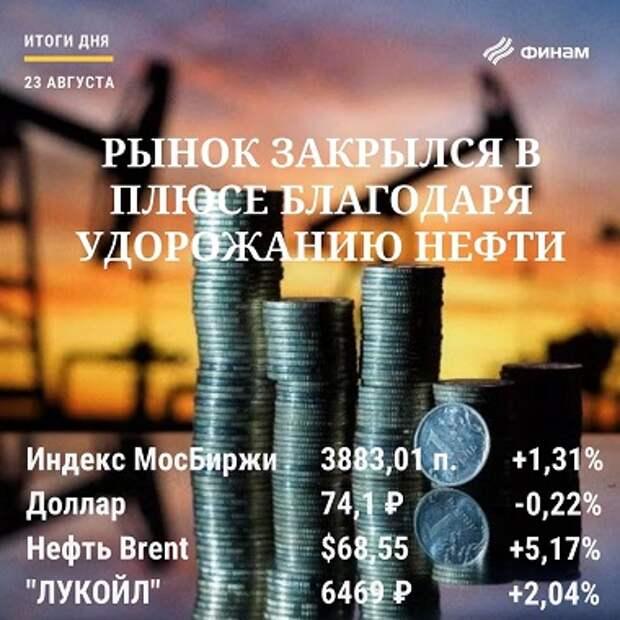 Итоги понедельника, 23 августа: Российский рынок начал неделю рывком вверх