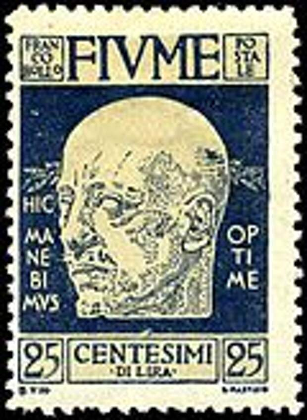 Stamp Fiume 1920 25c Annunzio.jpg