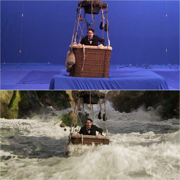 20 сцен из фильмов до и после спецэффектов