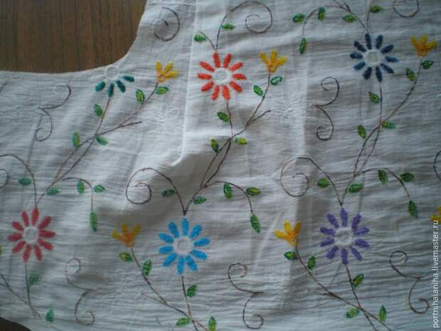 роспись блузки
