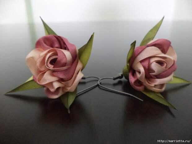 Миниатюрные цветы из ленточек. Мастер-классы (47) (700x525, 193Kb)