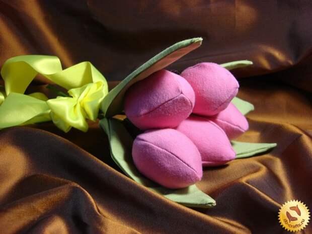 Тюльпаны из ткани 30