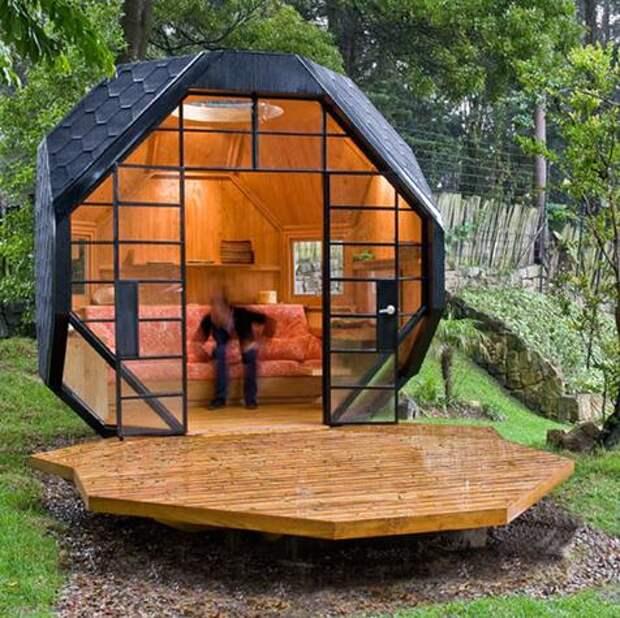 Самые интересные проекты миниатюрных дачных домиков