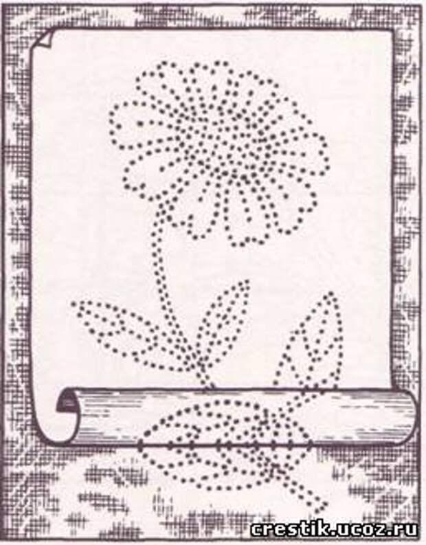 Перенос рисунка на ткань для вышивки лентами