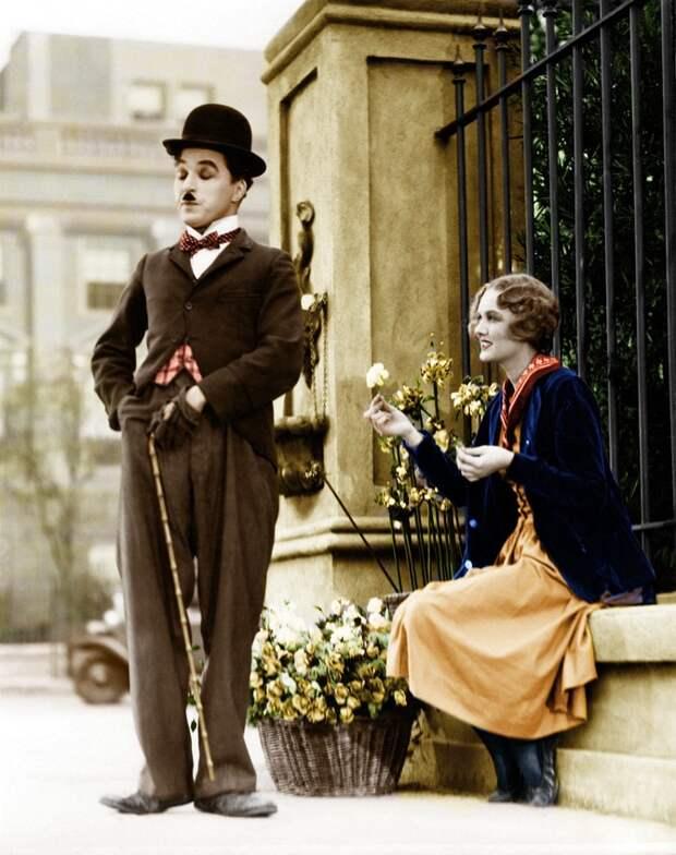 15 редких раскрашенных фотографий Чарли Чаплина, сделанных в 1910-1930-х годах