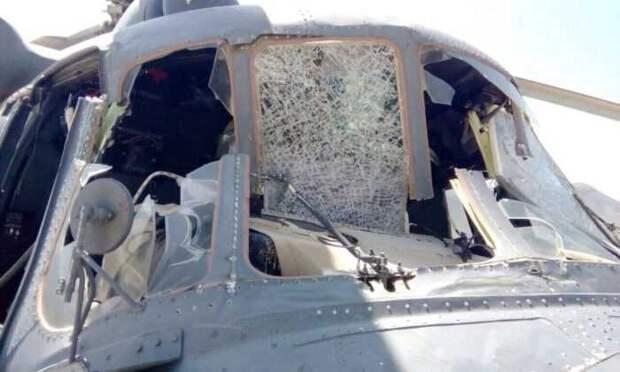 Опубликованы видеокадры с места попадания армянской ЗРК в азербайджанский Ми-17