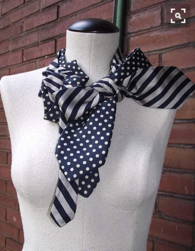 Шарфик из галстуков
