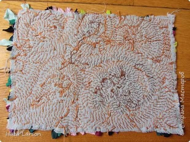 Мастер-класс Поделка изделие Вышивка Вышивание б\у футболками Бисер Канва Нитки Ткань фото 17