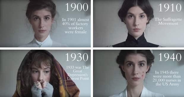 """""""Сто лет естественной красоты"""" – видео о меняющихся стандартах женской красоты"""