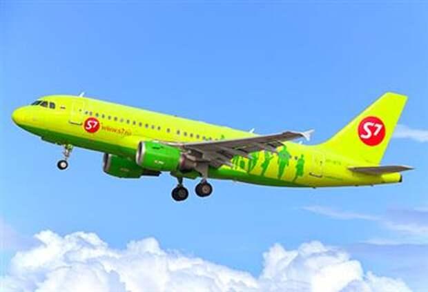 Перевозки пассажиров S7 Airlines в июле выросли на 36%