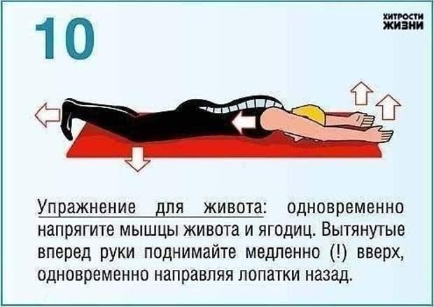 упражнения для пресса и спины10