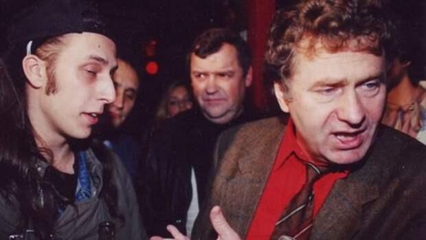 Владимир Жириновский на открытиии рок-клуба 1992 год, Москва.