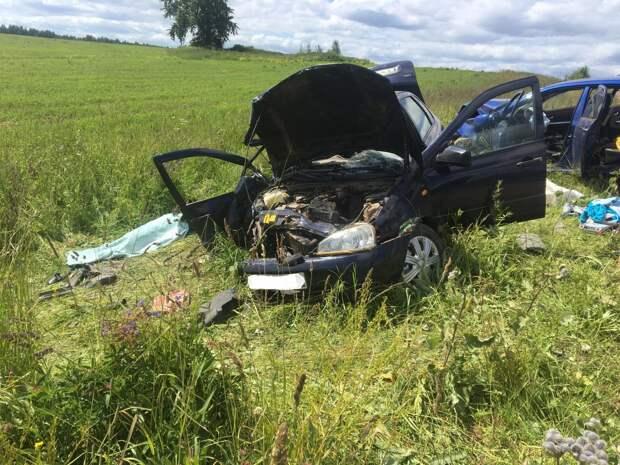 В лобовом столкновении авто в Удмуртии погибла женщина