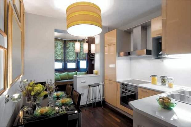 Можно ли объединить кухню и лоджию