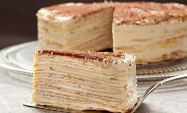 Медовый торт на сковороде за 30 минут