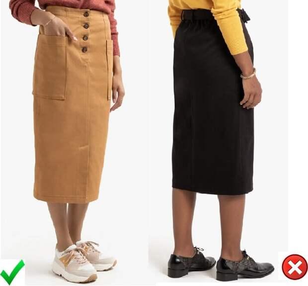 Прямая юбка: 3 совета стилистки, которые помогут правильно подобрать образ