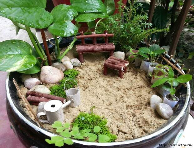 Миниатюрный сад своими руками (700x535, 377Kb)