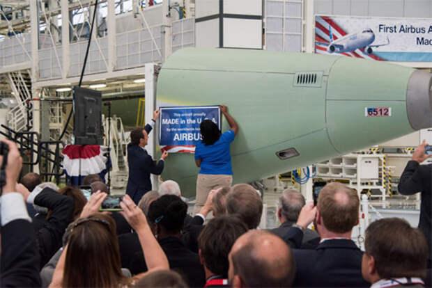 Первый самолет Airbus, который будет собран в США