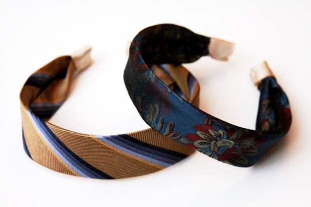 Ободки из мужских галстуков