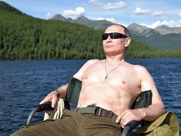 Путин прокомментировал фото с голым торсом (ФОТО)