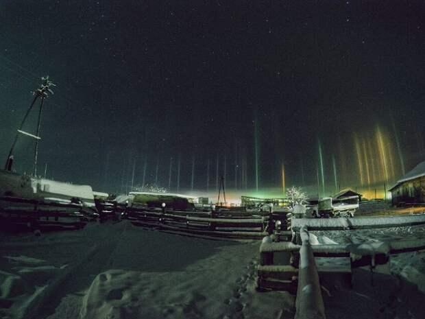 Световые столбы – редкое атмосферное явление, поражающее своей красотой