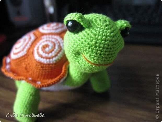 Игрушка Мастер-класс Вязание крючком изготовление Черепашки Пряжа фото 32