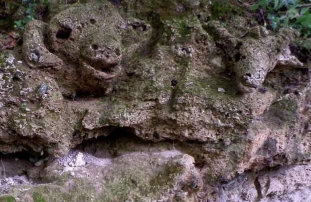 В Болгарии обнаружены вырезанные в скале головы животных