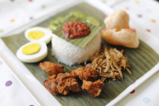 Наси лемак (Малайзия) блюдо, еда, туризм