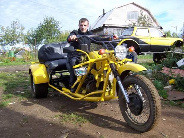 Нашел 2 задних колеса от трактора «Беларусь», тут же пришла в голову идея сделать большой мотоцикл на колёсах.. авто, кастомайзинг, самоделка, своими руками, техника