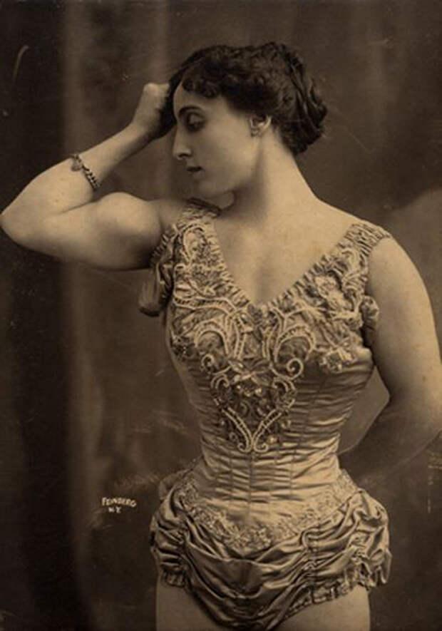 Цирковая силачка, 1905г.