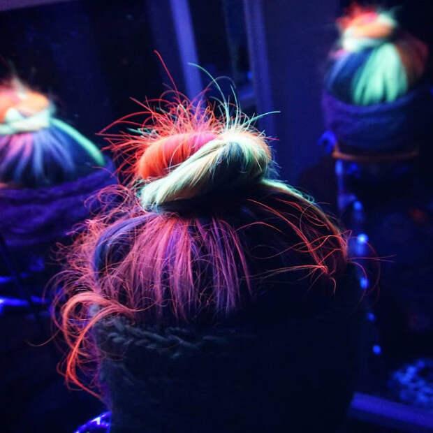 9.  вечеринка, волосы, краска для волос