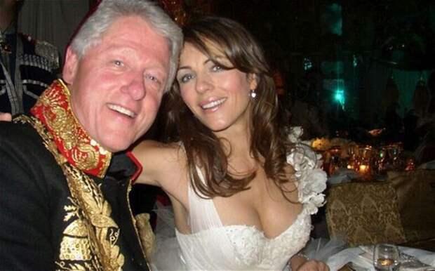 Билл Клинтон и Лиз Херли, президент США и актриса, 2005 звезды, люди, фото