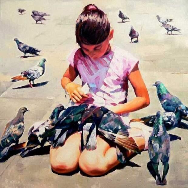 Буйство красок на полотнах украинского художника