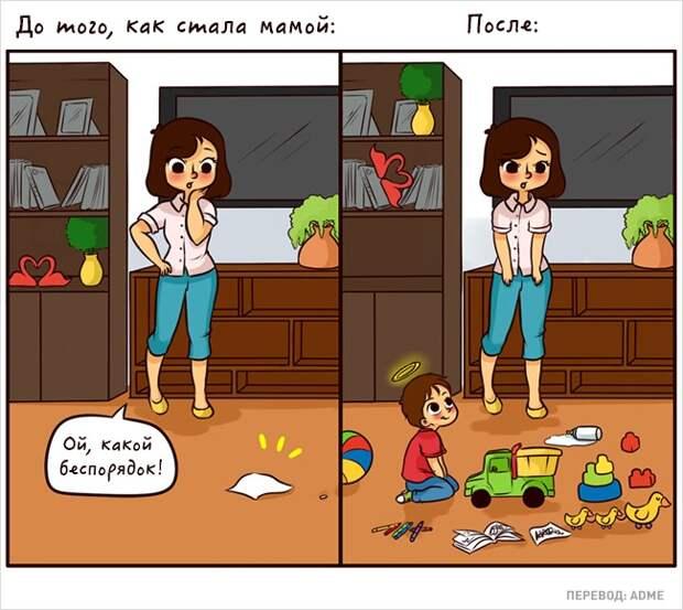 20 искренних комиксов о том, каково это — быть мамой