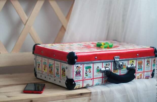 декоративный чемодан