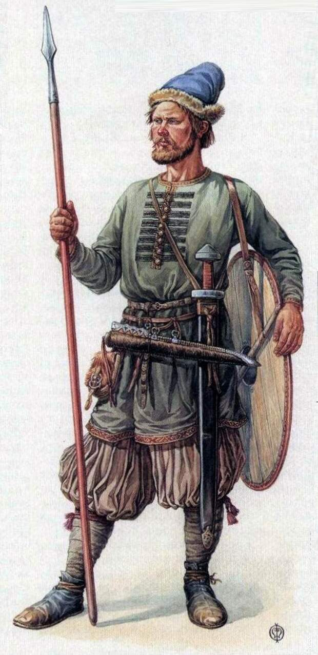 Древнерусские воины. Реконструкция по материалам Гнёздовского могильника
