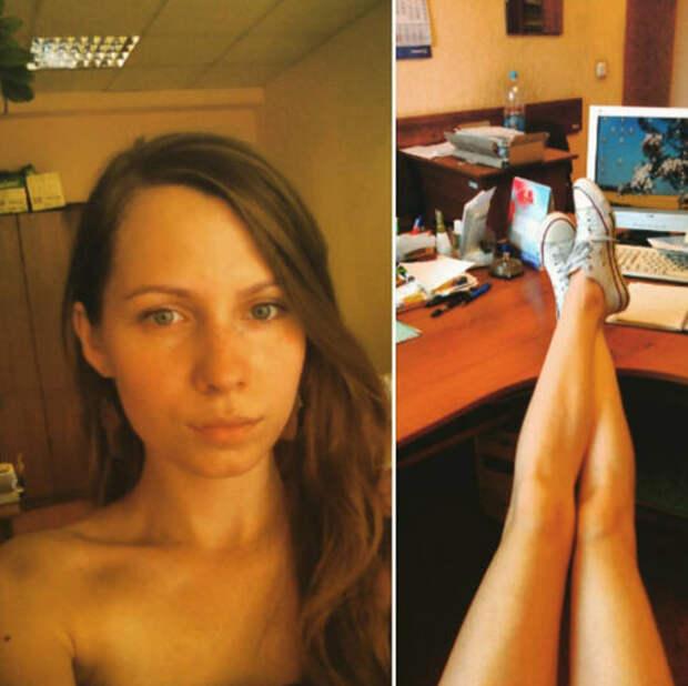 Белорусы разделись на работе