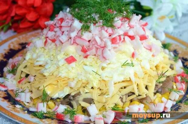 Рецепты простых салатов с грибами