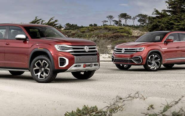 Volkswagen Tanoak и Atlas Cross - рулим первыми!