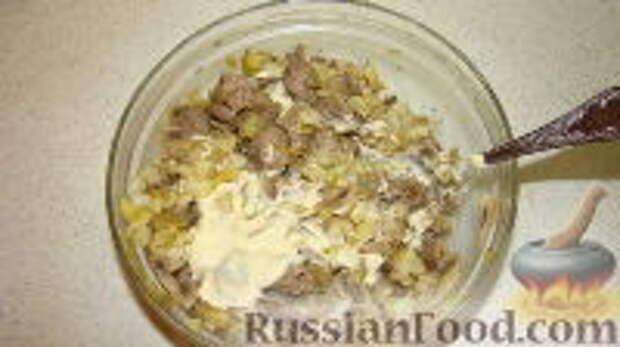 """Фото приготовления рецепта: Салат """"Часы"""" - шаг №8"""