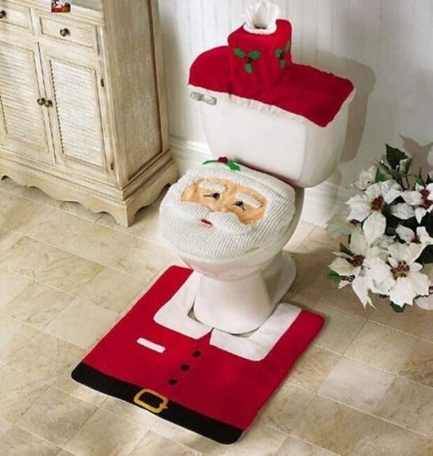 Новый год...и в туалете