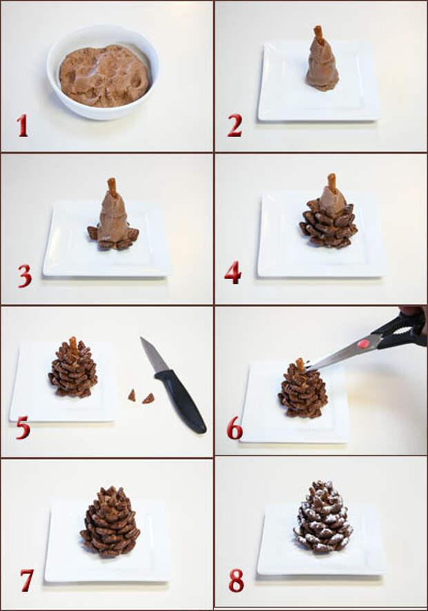 Десерт Еловые шишки - способ приготовления