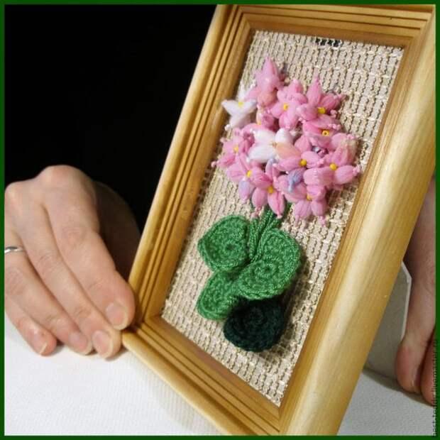 Цветы из пряжи. Мастер-класс